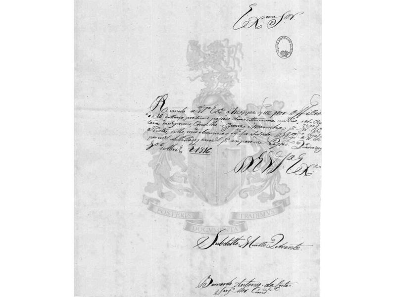 Documento existente no Arquivo Histórico Militar