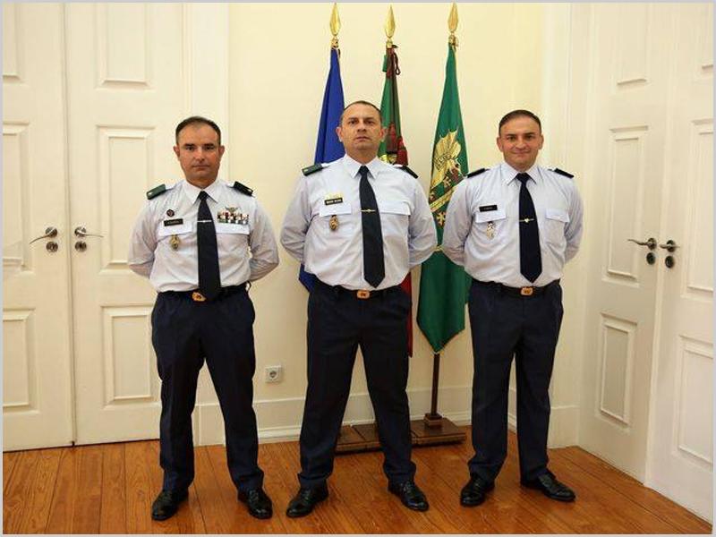 Brigadeiros Generais Rui Alberto Ribeiro Veloso, Paulo Jorge Alves Silvério e António Manuel Bogas