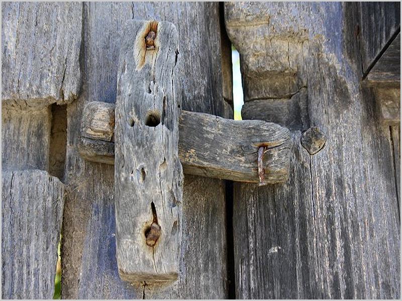 Ferrolho ou pintcho da porta