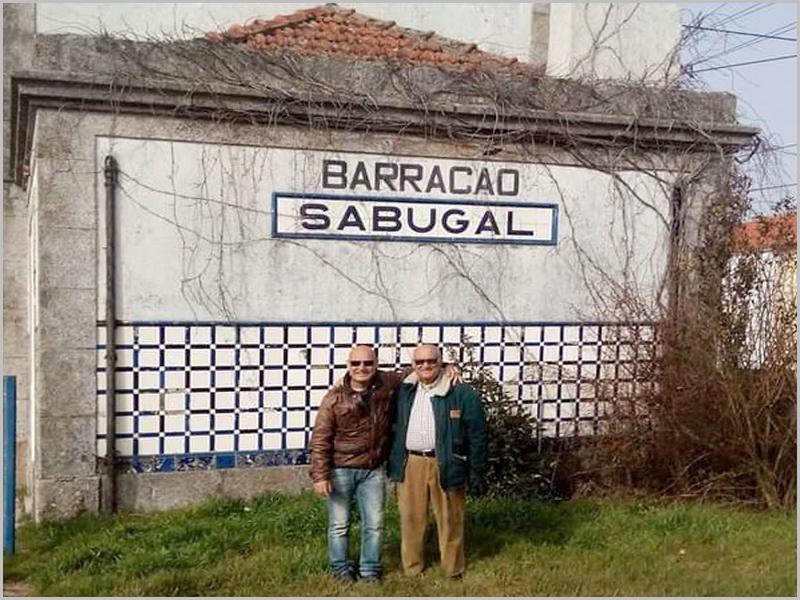 António Fernandes com Fernando Jorge dos Santos Pires na estação do Barracão-Sabugal