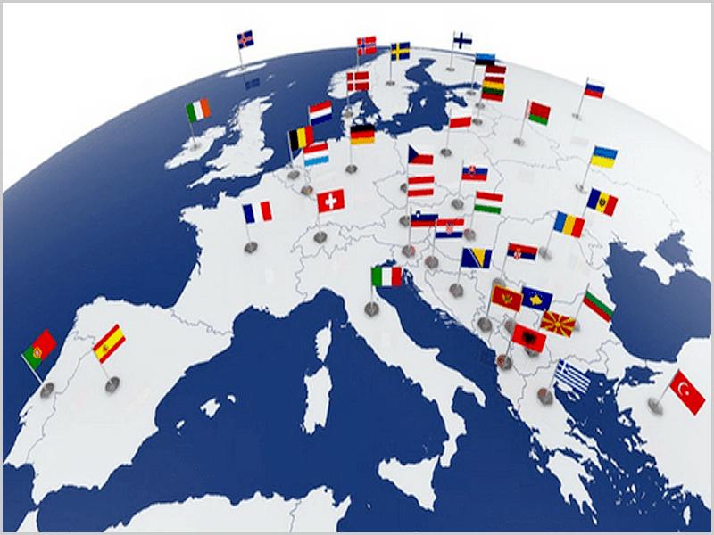 Mapa do espaço Schengen