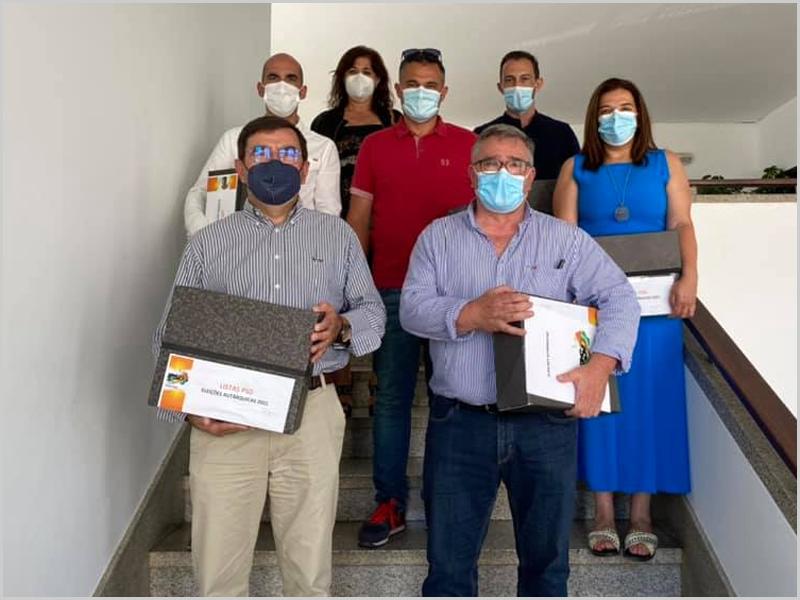 Delegação do PSD entrega as candidaturas no Tribunal do Sabugal