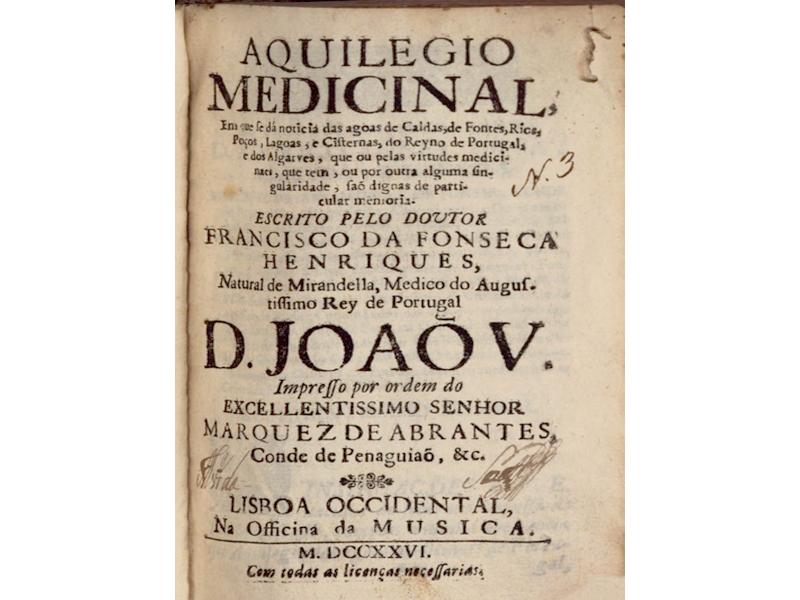 «Aquilégio Medicinal» no reinado de D. João V