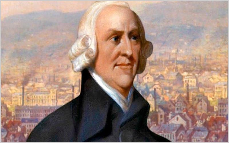 Adam Smith – filósofo e economista britânico nascido na Escócia viveu no séc. XVIII o atribulado Século das Luzes