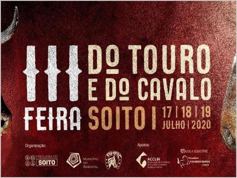 Imagem do cartaz da III Feira do Touro e do Cavalo prevista para 20020 que ficou adiada