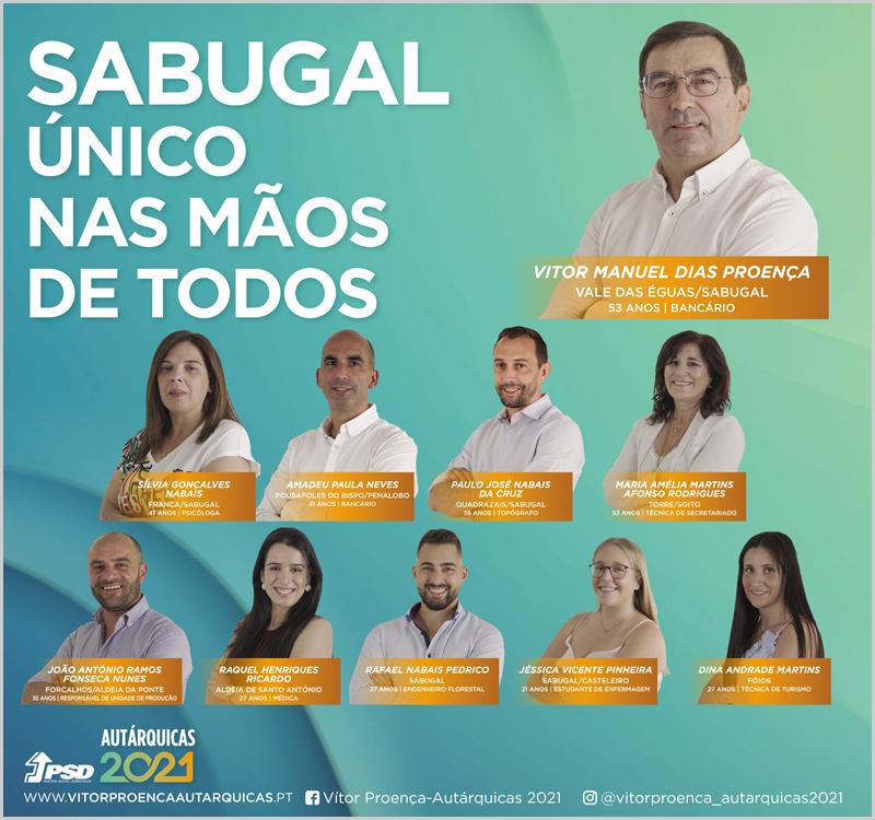 Candidatos do PSD à Câmara Municipal do Sabugal nas eleições autárquicas 2021