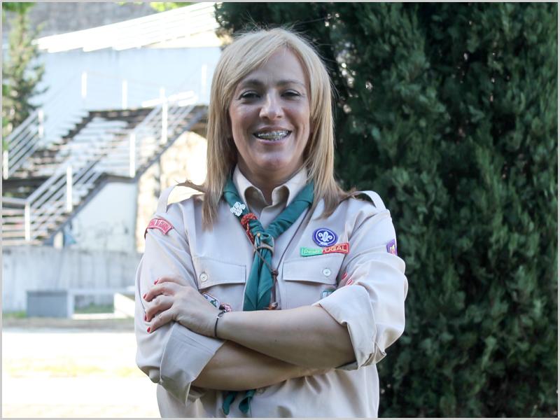 Sandra Duarte – Chefe Regional da Guarda do Corpo Nacional de Escutas (CNE)