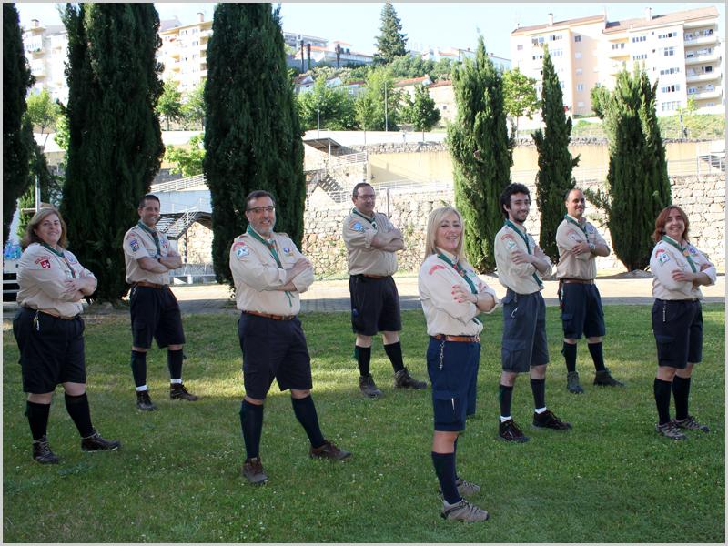 Dirigentes regionais de Escutismo da Guarda