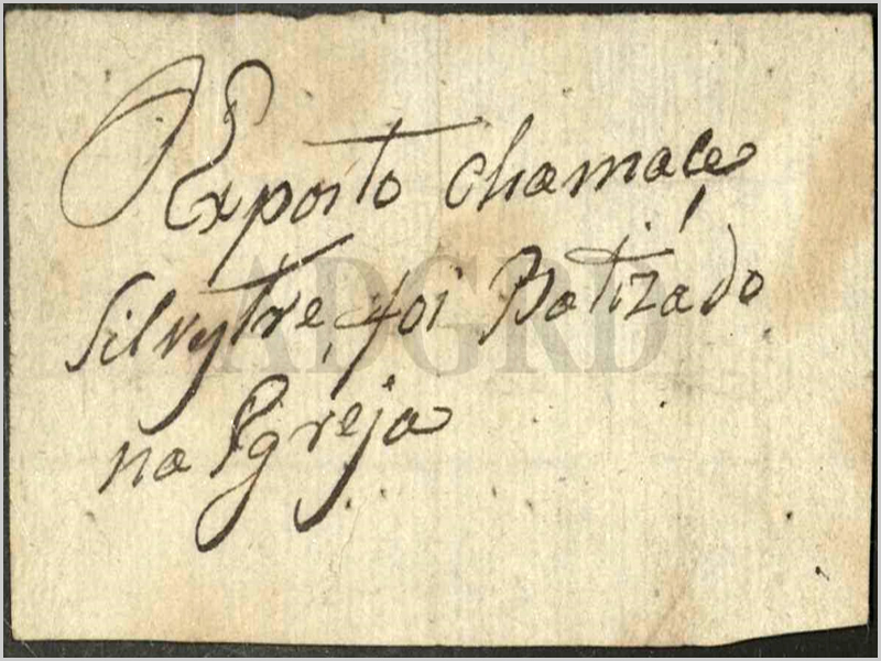 «O exposto chama-se Silvestre e foi batizado na igreja», diz o bilhete