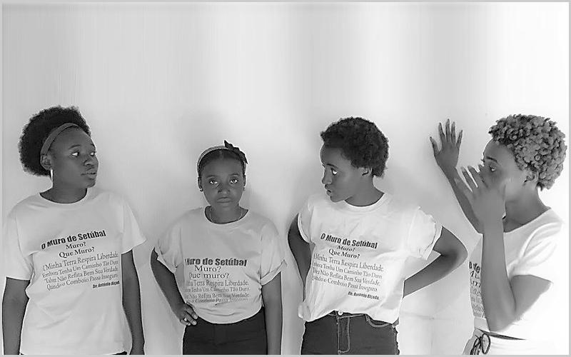 Muro de Setúbal estampado nas t-shirts