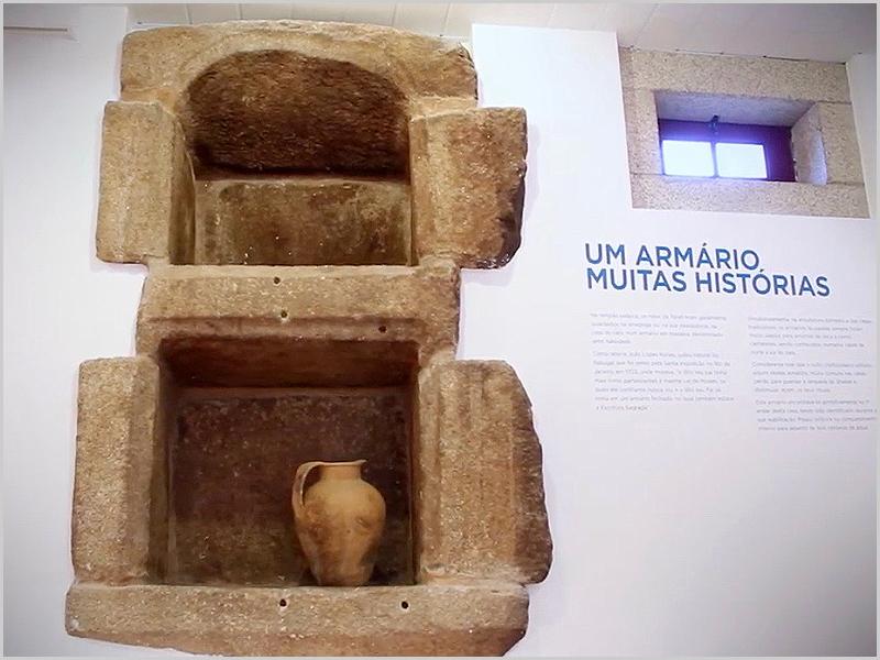 Imagem captada no interior Casa da Memória Judaica da Raia Sabugalense