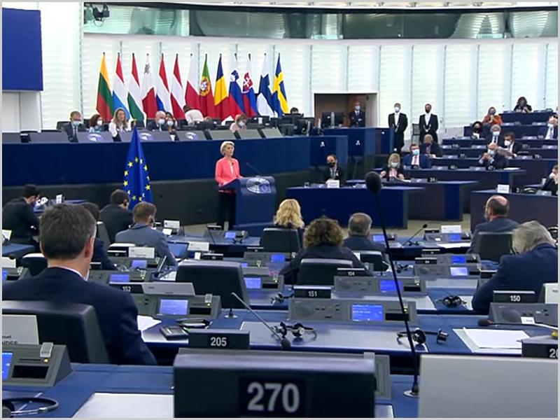 Ursula von der Leyen discursa sobre o Estado da União