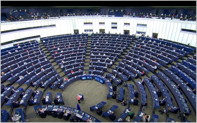Discurso anual sobre o Estado da União de Ursula von der Leyen, presidente da Comissão Europeia em Estrasburgo