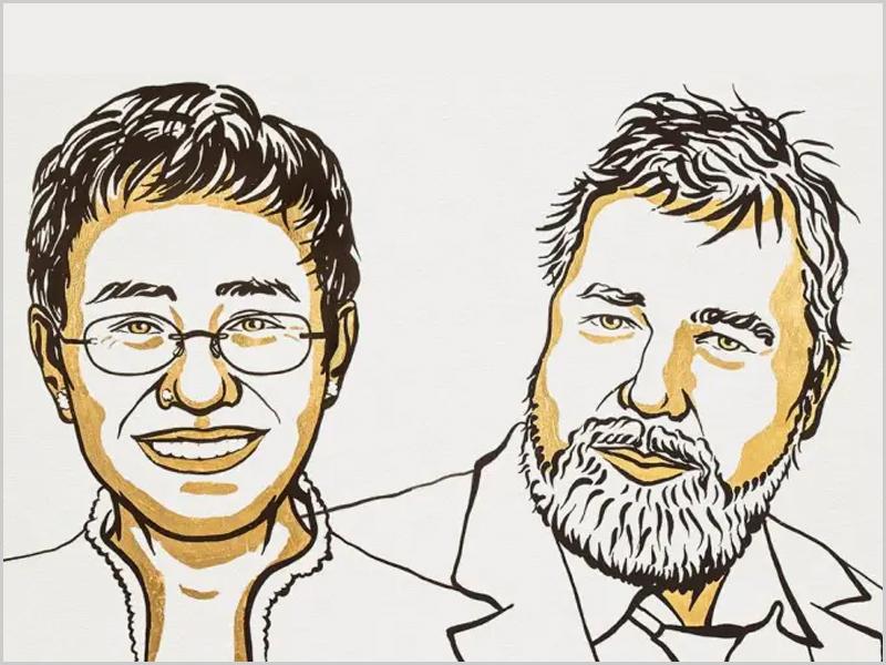 Prémio Nobel da Paz 2021 para a filipina Maria Ressa e para o russo Dmitri Muratov