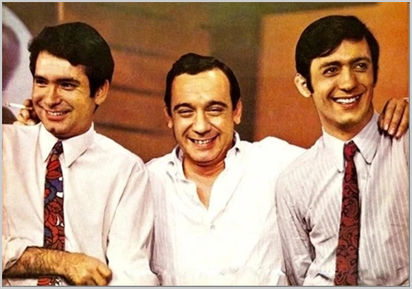 Fialho Gouveia, Raúl Solnado e Carlos Cruz apresentaram o programa »Zip, Zip» nos anos 60